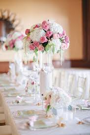 White Centerpieces Tall Pink And White Centerpiece Elizabeth Anne Designs The