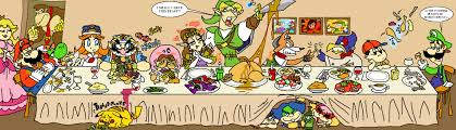 cartoon thanksgiving wallpaper thanksgiving with nintendo by hoppybadbunny on deviantart