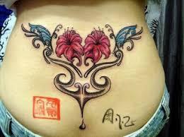 Flower Butterfly Tattoos 01 Rea Reo Tribal Flower Butterfly Tattoos 01