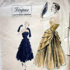 vintage vogue couturier 592 womens evening dress pattern high