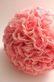 flower balls pink ivory balls floral flower balls pomanders for