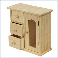 wood decorable diy jewellery box with 3 drawers u2015 hepi home
