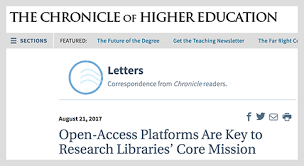 open access platforms are key to research libraries u0027 core mission