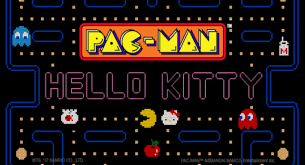 kitty pac man team mobile game