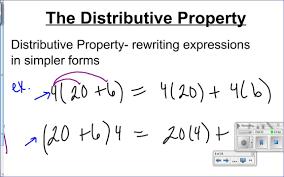 8th grade lesson 1 7 the distributive property youtube
