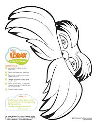 the lorax mask printable preschool dr seuss pinterest the
