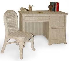 Whitewash Desk Florentine Rattan Bedroom 4393 Suite From Schober Whitewash