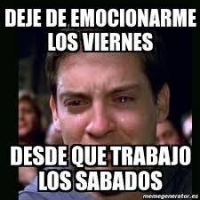 Meme Viernes - peter parker crying meme meme center