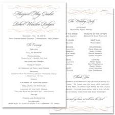 what goes on wedding programs ivory gold programs ceremony programs