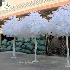 uvg gre011 10ft white artificial tree with wood