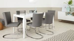 Dining Chairs Grey Designer Faux Leather And Chrome Dining Chair Uk Exclusive