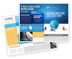 global connection brochure template design and layout download