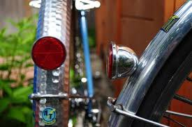 bicycle rear fender light at fender taillight