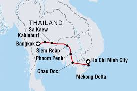 Thailand Blank Map by Cycle Indochina Cambodia Tours Intrepid Travel Au