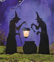 halloween decor solar lantern witch ghost tombstone silhouette
