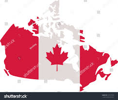 canadian map canada flag stock vector 517677703 shutterstock