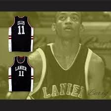 ellis 11 lanier high bulldogs black basketball jersey
