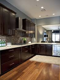 how to clean espresso cabinets this clean look espresso cabinets and blue gray wall