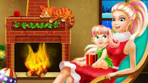 barbie games online christmas barbie house decorating online