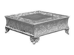 16 Inch Pedestal Cake Stand Square Cake Stand Ebay