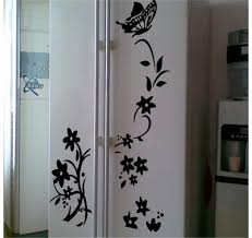 aliexpress com buy vine flower wall stickers refrigerator aliexpress com buy vine flower wall stickers refrigerator decorations 8308 diy home decals vinyl art room mural posters adesivos de paredes 4 5 from