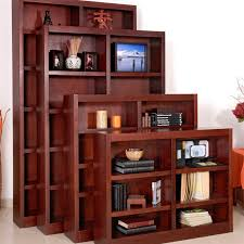 Cherry Wood Bookcase With Doors Remmington Heavy Duty Bookcase Cherry Hayneedle