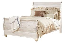 White Sleigh Bed Willowton Queen Sleigh Bed Ashley Furniture Homestore