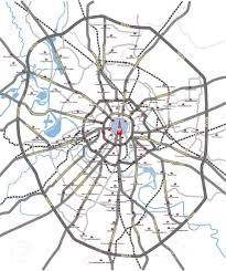 Subway Station Map by Map Of Main Roads And Subway Station Moscow City With Russian