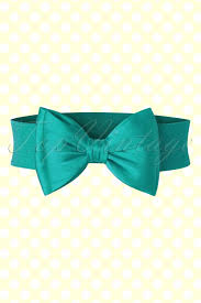 bow belt 50s wow to the bow belt in teal blue