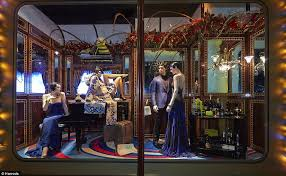 Window Display Christmas Decorations Uk by All Aboard The Harrods Express First Look At Luxury Store U0027s