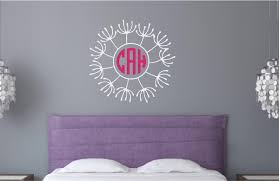 monogram flower vinyl decal wall stickers letters words children u0027s