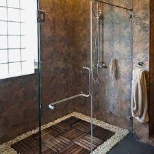 rock flooring bathroom beautiful best river rock bathroom ideas on