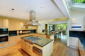 spacious plywood galley kitchen with stove kitchen island of