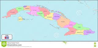 Map Cuba Political Map Of Cuba With Names Stock Vector Image 73415193