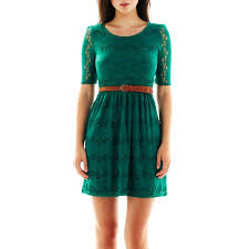 jcpenney by u0026by belted lace dress jcpenney jcpenney clothes