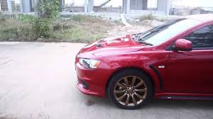 lancer ex 2 0 gt evo x front bumper pp oem rally red p26 hd