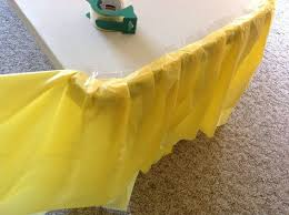 plastic table covers for weddings how to make a fancy ruffle table cloth from cheap dollar store