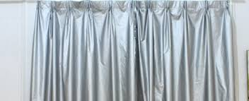 Silver Window Curtains Windows What Is The Name Of These Silver Curtains Used To