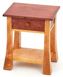 craftsman style end table mission nightstand curly maple