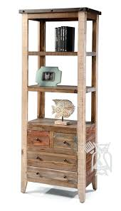 bookcase solid pine wood rustic open bookcase with drawers in