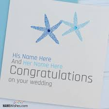 a wedding wish wish card for with names