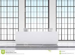Modern White Reception Desk Front View Of White Reception Desk Stock Illustration Image