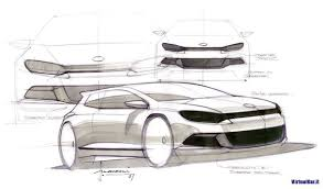 volkswagen polo sketches by flavio manzoni top rendering by