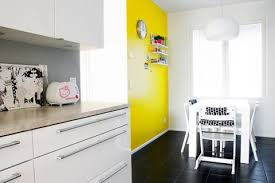 Yellow Accent Wall Yellow Kitchen Walls Fabulous Wall Colors For Small Kitchens With