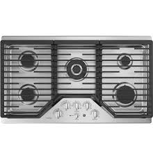 Ge Gas Cooktop Reviews Kitchen Wonderful Ge Profile 36 Built In Gas Cooktop Jgp963secss