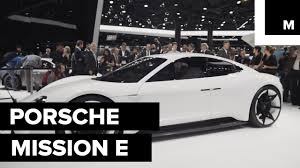 porsche mission e charging new porsche mission e youtube