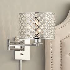 plug in wall lights for bedroom possini euro glitz 9 wide plug in swing arm wall l household