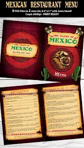 mexican restaurant menu psd template on behance