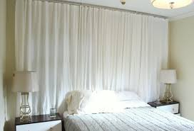 cool bedroom with contemporary sheer curtains white ottoman