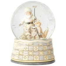 baptism snow globes jim shore season so white woodland santa snow globe snow globes